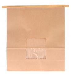 Sacchetto di Carta con chiusura e finestra 20+8x23cm (500 Pezzi)