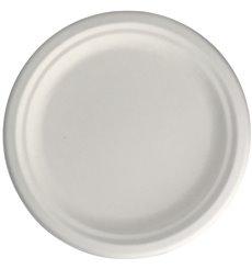Piatto in Canna da Zucchero Bianco Ø22 cm (50 Pezzi)
