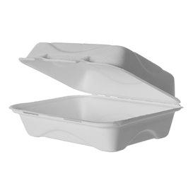 Contenitori Canna da Zucchero Bianco 23x15x7,5cm (50 Pezzi)