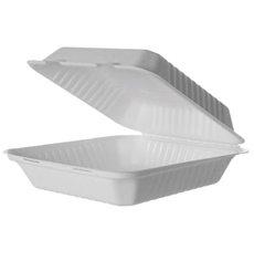 MenuBox Bastoncino di zucchero bianco con PLA 23x23x7,5cm (50 pz)