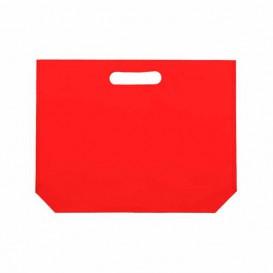 Sacchetto TNT Manico Fustellato Rosso 34+8x26cm (25 Pezzi)