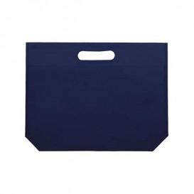 Sacchetto TNT Manico Fustellato Blu Elettrico 34+8x26cm (200 Pezzi)