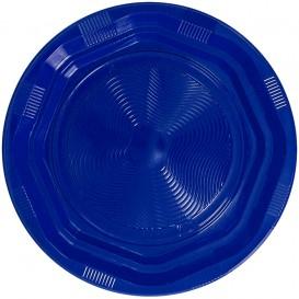 Piatto Plastica Tondo Rigida Blu Ø170 mm (25 Pezzi)