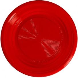 Piatto Amido Mais PLA Piani Rosso Ø170 mm (25 Pezzi)
