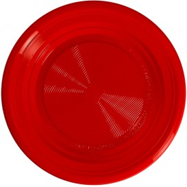 Piatto Amido Mais PLA Fondi Rosso Ø220 mm (375 Pezzi)