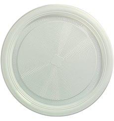Piatto di Amido Mais PLA Piani Bianco Ø220 mm (25 Pezzi)