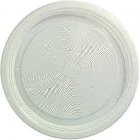 Piatto di Amido Mais PLA Piani Bianco Ø170 mm (25 Pezzi)