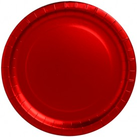 """Piatto di Carta Tondo """"Party"""" Rosso Ø340mm (3 Pezzi)"""
