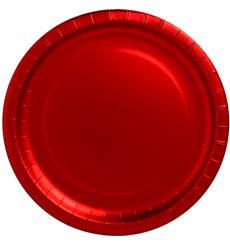 """Piatto di Carta Tondo """"Party"""" Rosso 330mm (45 Pezzi)"""
