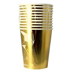 """Bicchiere di Carta 9Oz/240ml Oro """"Party"""" (300 Pezzi)"""