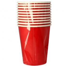 """Bicchiere di Carta 9Oz/240ml Rosso """"Party"""" (10 Pezzi)"""