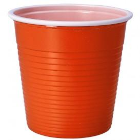 Bicchiere di Plastica PS Bicolore Arancione 230 ml (30 Pezzi)