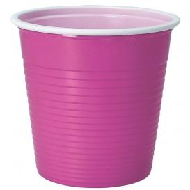 Bicchiere di Plastica PS Bicolore Rosa 230 ml (30 Pezzi)