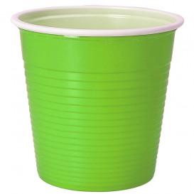 Bicchiere di Plastica PS Bicolore Verde Acido 230 ml (690 Pezzi)