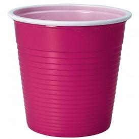 Bicchiere di Plastica PS Bicolore Fucsia 230 ml (30 Pezzi)