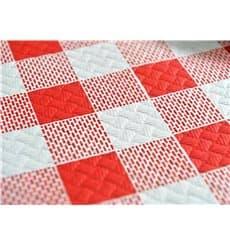 """Tovaglia di Carta Taglio 1,2x1,2m """"Quadro Rossos"""" 40g (400 Pezzi)"""
