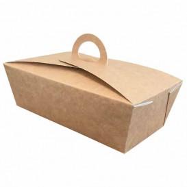 """Contenitore di Cibo """"Doggy Bag"""" Kraft 16x9,5x6cm (25 Pezzi)"""