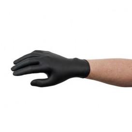 Guanti in Nitrile Senza Polvere Nero Taglia XL AQL 1.5 (100 Pezzi)