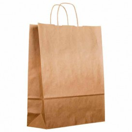 Buste Shopper in Carta Marrone 100g 22+11x27cm (25 Pezzi)