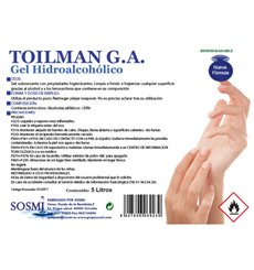 Gel igienico idroalcolico antibatterico 5.000ml (4 Pezzi)