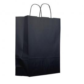 Buste Shopper in Carta Nero 100g 25+11x31cm (25 Pezzi)