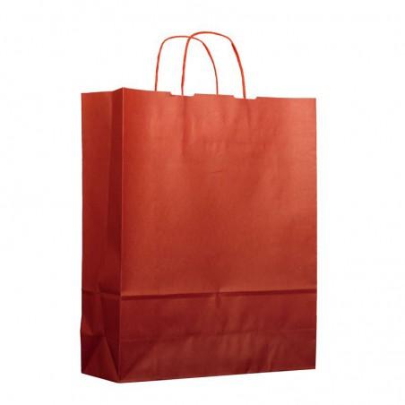Buste Shopper in Carta Rosso 100g 25+11x35cm (200 Pezzi)