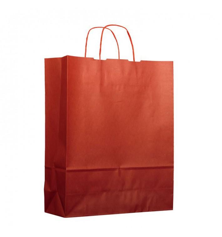 Buste Shopper in Carta Rosso 100g 25+11x31cm (25 Pezzi)