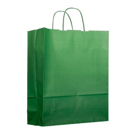 Buste Shopper in Carta Verde Anice 80g 26+14x32 cm (50 Pezzi)