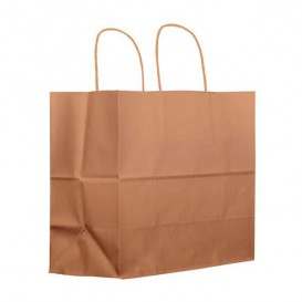 Buste Shopper in Carta Marrone 100g 27+14x26 cm (200 Pezzi)