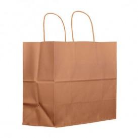 Buste Shopper in Carta Marrone 100g 30+18x29cm (200 Pezzi)