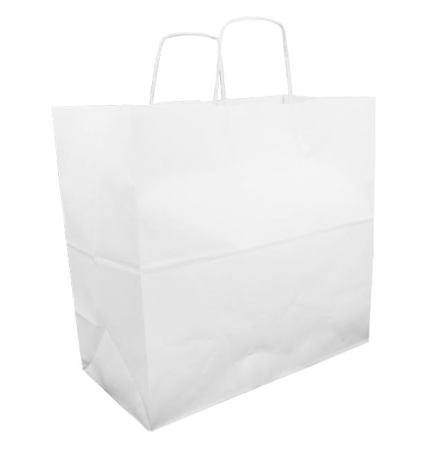 Buste Shopper in Carta Bianca 100g 35+15x30cm (200 Pezzi)