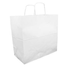 Buste Shopper in Carta Bianca 100g 35+15x30cm (25 Pezzi)
