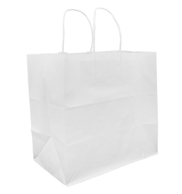 Buste Shopper in Carta Bianca 80g 30+18x29cm (25 Pezzi)