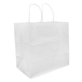 Buste Shopper in Carta Bianca 80g 30+18x29cm (200 Pezzi)
