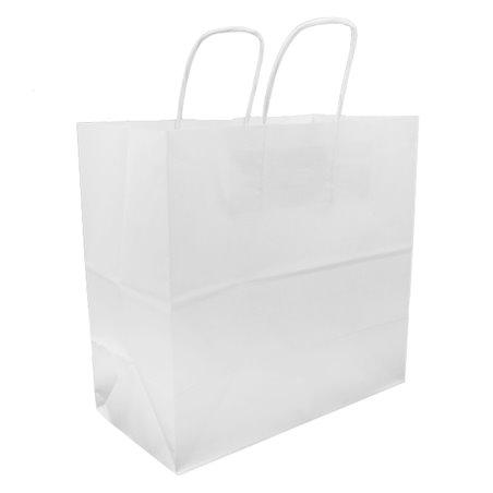 Buste Shopper in Carta Bianca 100g 27+14x26cm (200 Pezzi)