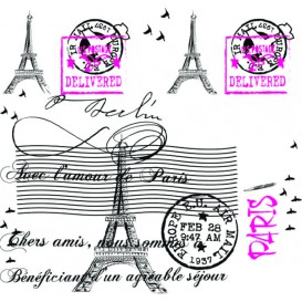 "Tovaglia di Carta Taglio 1x1m ""Paris"" 37g (400 Pezzi)"