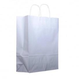 Buste Shopper in Carta Bianca 100g 32+12x41 cm (25 Pezzi)