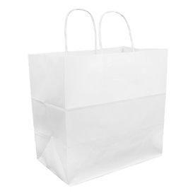 Buste Shopper in Carta Bianca 100g 30+18x29cm (25 Pezzi)