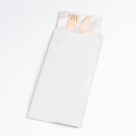 Busta per Posate Bianco 11x24cm (125 Pezzi)