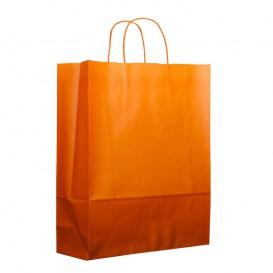 Buste Shopper in Carta Arancione 100g 25+11x31cm (200 Pezzi)