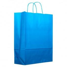 Buste Shopper in Carta Turchese 80g 26+14x32 cm (200 Pezzi)