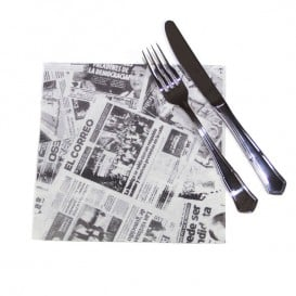 """Tovagliolo di Carta """"Giornale"""" 40x40cm (50 Pezzi)"""