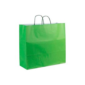 Buste Shopper in Carta Verde 100g 22+9x23cm (200 Pezzi)