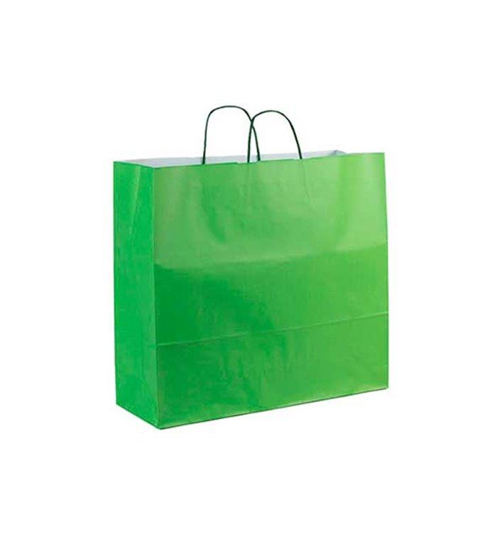 Buste Shopper in Carta Verde 100g 22+9x23cm (25 Pezzi)