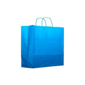 Buste Shopper in Carta Turchese 80g 22+9x23 cm (200 Pezzi)