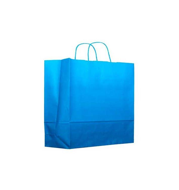 Buste Shopper in Carta Turchese 80g 22+9x23 cm (200 Pezzi)