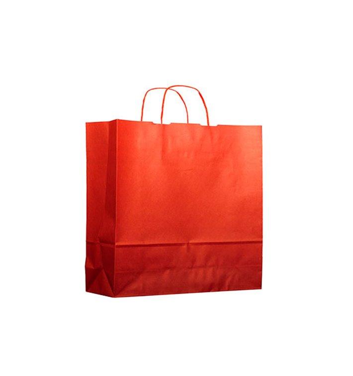 Buste Shopper in Carta Rosso 100g 22+9x23 cm (200 Pezzi)