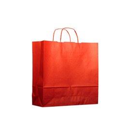 Buste Shopper in Carta Rosso 100g 22+9x23 cm (25 Pezzi)