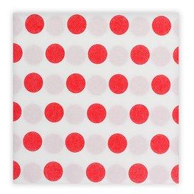 """Tovagliolo di Carta """"Pois Rosso"""" Punta- Punta 40x40cm (600 Pezzi)"""