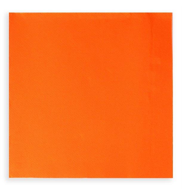 Tovagliolo di Carta Cocktail 20x20cm Arancione (100 Pezzi)